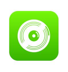 Vinyl record icon green vector