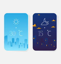 weather poster concept night and day result vector image