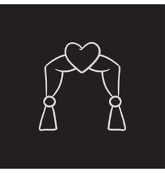 Wedding arch sketch icon vector image