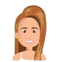 Young and beautiful woman cartoon vector