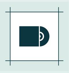 cd icon simple vector image vector image