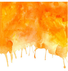 orange abstract hand drawn watercolor vector image vector image