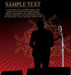 rock musician background vector image vector image