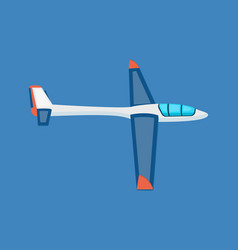 air vehicles land glider hovering in the air vector image vector image