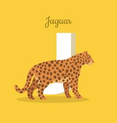 animals alphabet letter - j vector image