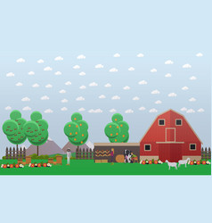 beekeeping and farming concept vector image