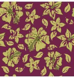 grunge floral background vector image vector image