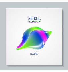 Luxury image logo rainbow seashell to design vector