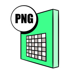 png file icon cartoon vector image vector image