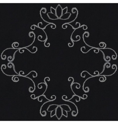 Chalk decorative frame vector image vector image