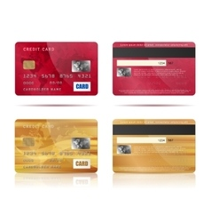 Credit cards set vector image