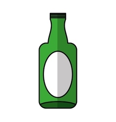 glass bottle isolated icon vector image