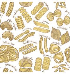 hand drawn pasta background vector image