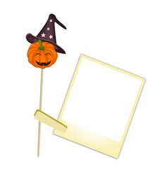 Happy Jack-o-Lantern Pumpkin with Blank Photos vector image vector image