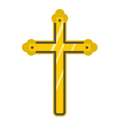 Holy cross icon isolated vector