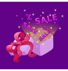 Open gift box Sale vector image