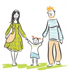 family walk vector image vector image