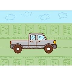 Pickup car vector image