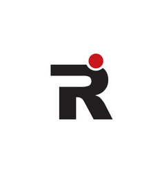 r letter people logo vector image