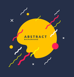 Abstract background with a splash lines and round vector