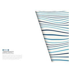 abstract cover of blue wavy pattern with free vector image
