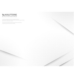 abstract modern halftone of gradient white and vector image