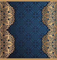 Beautiful ramadan kareem greeting card design with vector
