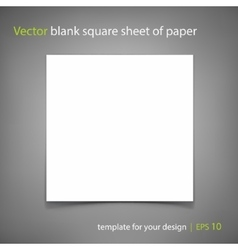 Blank square sheet paper template vector