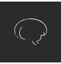Brain icon drawn in chalk vector image