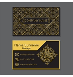 business card editable template include front vector image