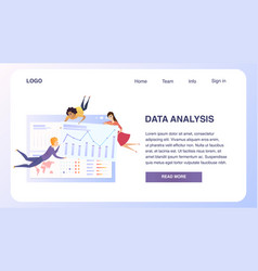 Business data analysis grath teamwork website vector