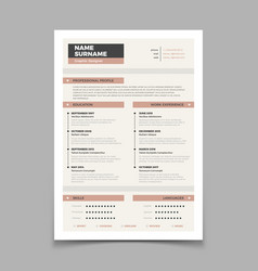 Business resume cv stylish elegance template vector