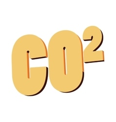 Carbon dioxide CO2 icon cartoon style vector