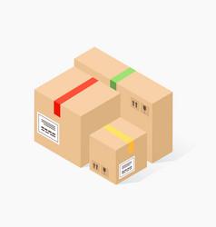 cardboard carton boxes vector image