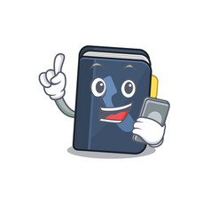 Cartoon design phone book speaking on a phone vector