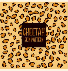 Cheetah skin texture print pattern vector