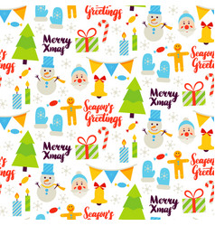 Christmas greetings seamless pattern vector