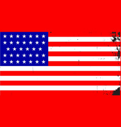 civil war union flag vector image