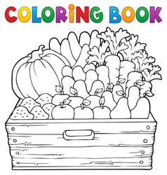 coloring book farm products theme 1 vector image
