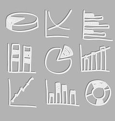 cute diagrams vector image