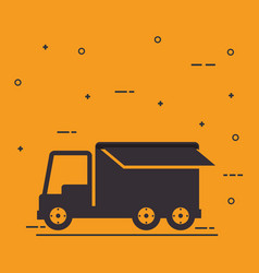 delivery service truck isolated icon vector image