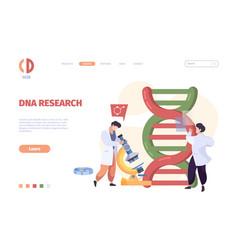 dna landing nanotechnology medical molecular vector image