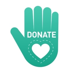 Donate button icon vector