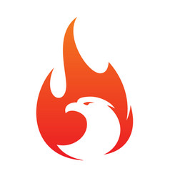 eagle fire icon in abstract style on white vector image