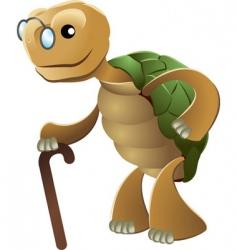 Elderly tortoise vector