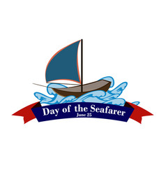 Element of design for the day of the seafarer a vector