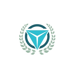 Emblem triangle logo vector