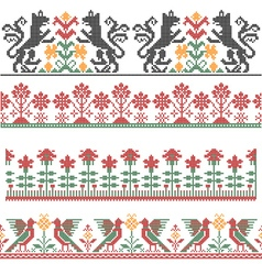 Embroidery border vector