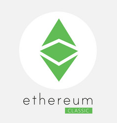 Ethereum classic etc cripto currency logo vector