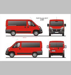 Fiat ducato passenger van l1h1 vector